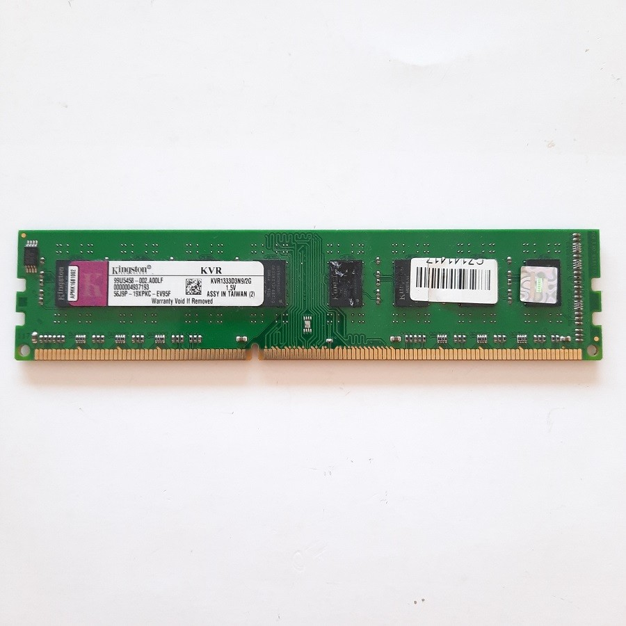 Kingston 2 GB-DDR3-1333 Mhz-Model-KVR1333D3N9/2G - Masaüstü Ram Bellek